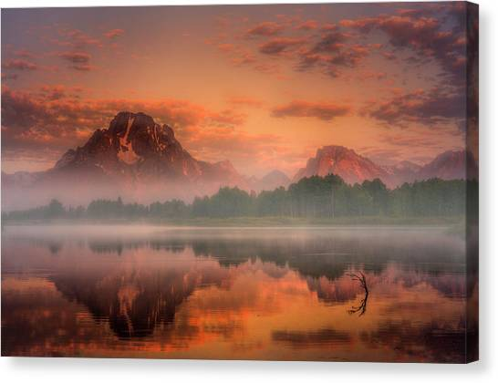 Teton Mist Canvas Print