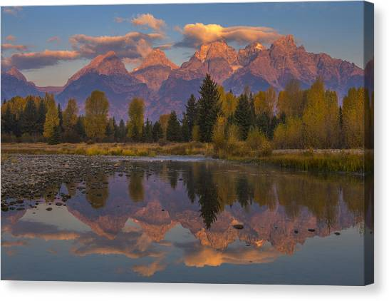 Nature Canvas Print - Teton Morning Mirror by Joseph Rossbach