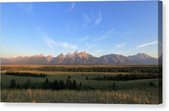 Teton Range After Sunrise Canvas Print