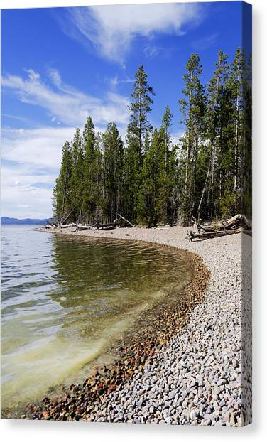 Wyoming Canvas Print - Teton Shore by Chad Dutson