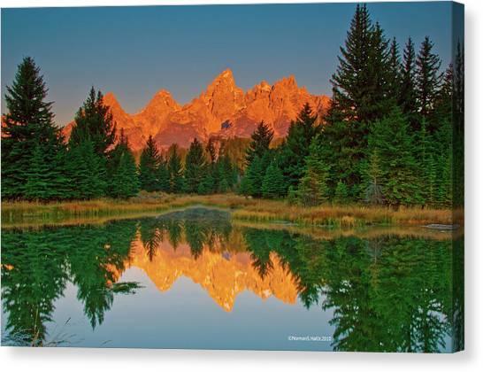 Teton Sunrise Canvas Print