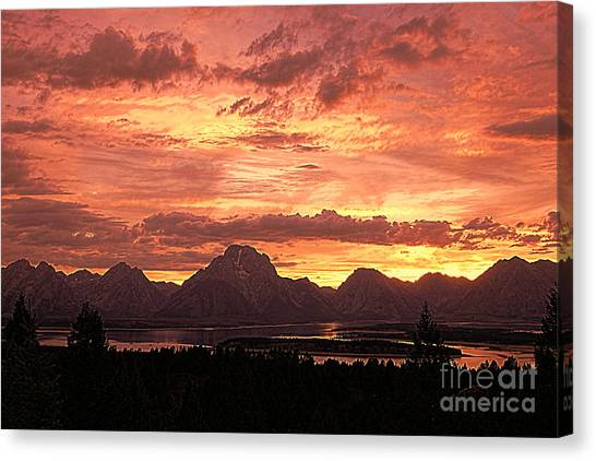 Teton Sunset Canvas Print