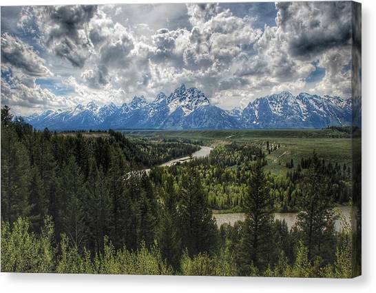 Ansel Adams Canvas Print - Tetons And Snake River by Hal Bowles