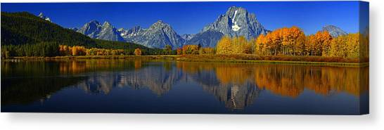Tetons From Oxbow Bend Canvas Print