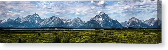 Tetons - Panorama Canvas Print