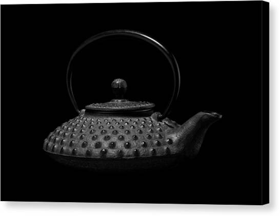 Metallic Canvas Print - Tetsubin Teapot by Tom Mc Nemar