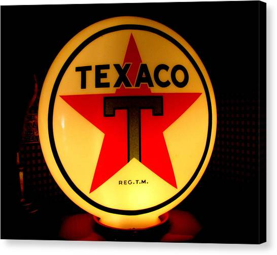 Texaco Canvas Print by Lisa Jayne Konopka