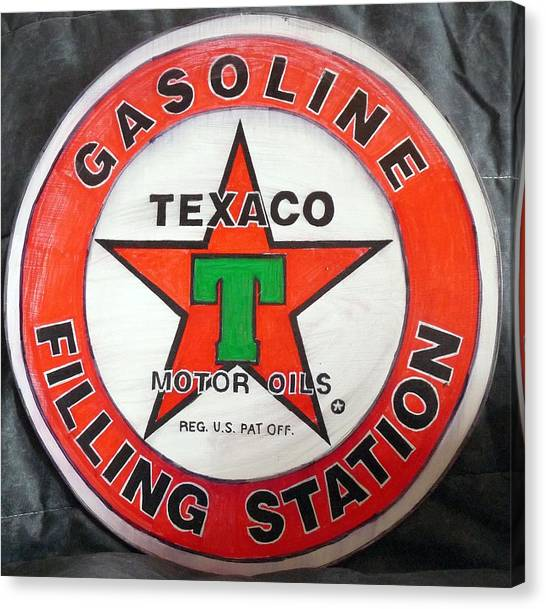 Texaco Sign Canvas Print