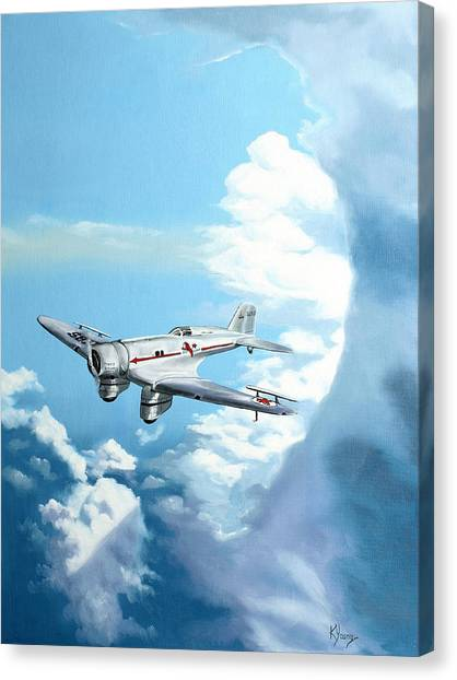 Texaco Sky Chief Canvas Print by Kenneth Young