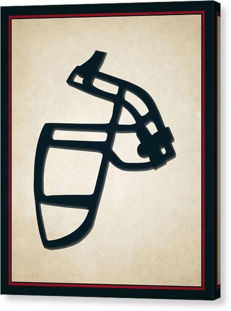 Houston Texans Canvas Print - Texans Face Mask by Joe Hamilton