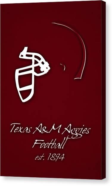 Texas State University Texas State Canvas Print - Texas Am Aggies Helmet by Joe Hamilton