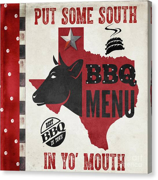 Steak Canvas Print - Texas Barbecue 4 by Mindy Sommers