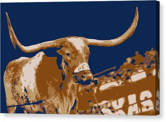 Texas Bevo Color 6 Canvas Print