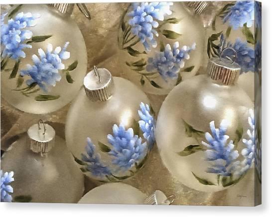 Texas Bluebonnet Ornaments Canvas Print