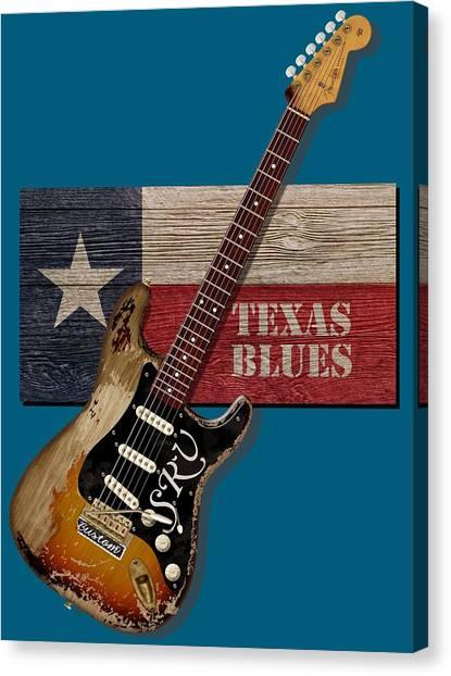 Texas Blues Shirt Canvas Print