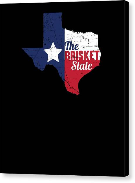 86da9a00 Barbeques Canvas Print - Texas Brisket State Bbq Barbecue Gift by Michael S