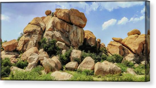 Canvas Print featuring the photograph Texas Canyon by Elaine Malott