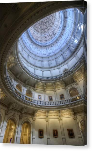 Texas Capitol Dome Interior Canvas Print