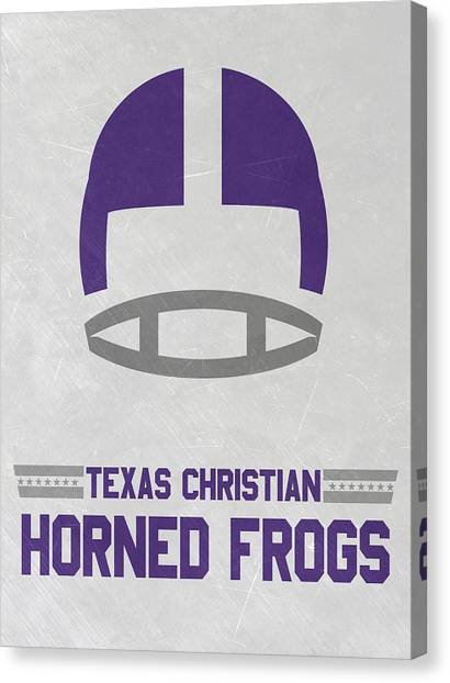 Texas Christian University Canvas Print - Texas Christian Horned Frogs Vintage Football Art by Joe Hamilton