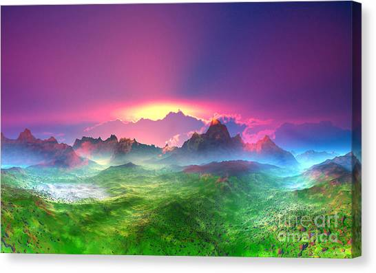 Texas Canvas Print - Texas  Country Digital Painting by Heinz G Mielke