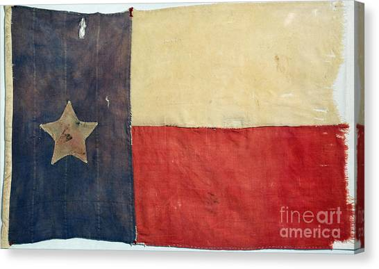 American Independance Canvas Print - Texas Flag, 1842 by Granger