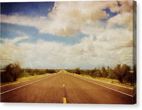 Big West Canvas Print - Texas Highway by Scott Norris