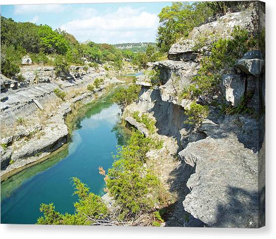 Texas Hill Country Canvas Print by Rebecca Shupp