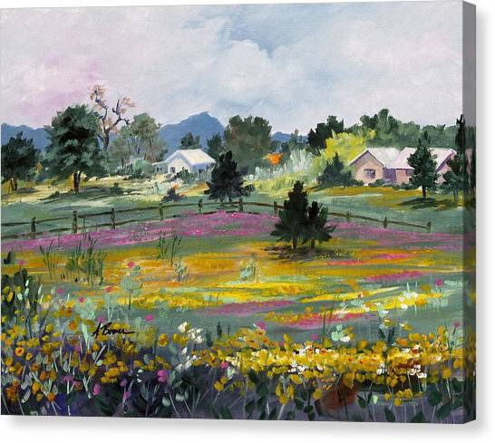 Texas Hillcountry Flowers Canvas Print