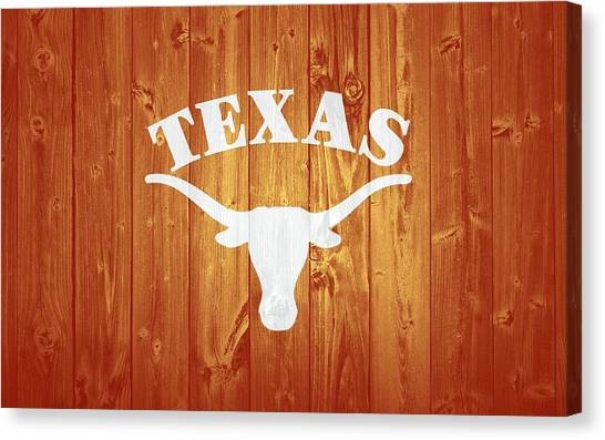 The University Of Texas Canvas Print - Texas Longhorns Barn Door by Dan Sproul