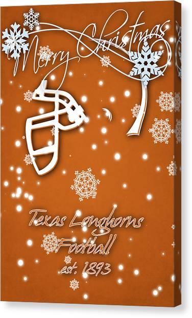 Texas State University Texas State Canvas Print - Texas Longhorns Christmas Card by Joe Hamilton