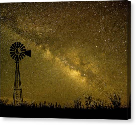 Texas Panhandle Milky Way Canvas Print