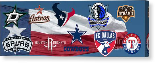 Fc Dallas Canvas Print - Texas Pro Sports by Steven Parker