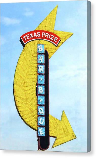 Texas Q Canvas Print