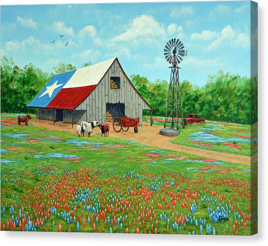 Texas Ranch Barn Canvas Print