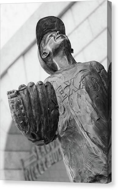 Texas Rangers Little Boy Statue Canvas Print