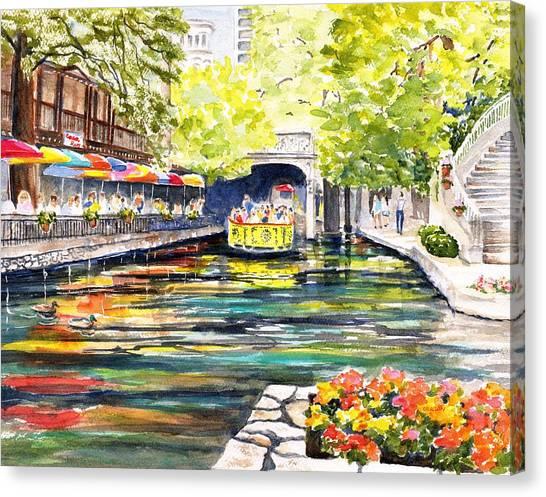 Texas San Antonio River Walk Canvas Print