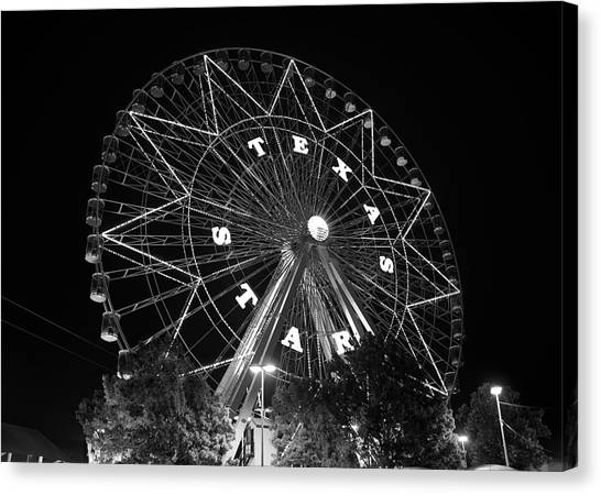 Texas Star 061116 V2bw Canvas Print