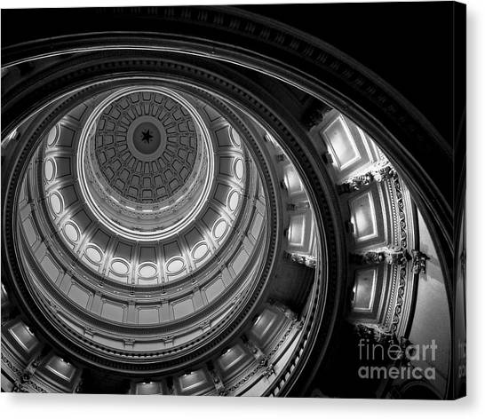 Austin Texas Canvas Print - Texas State Capital Dome Austin  by Wendy Fielding
