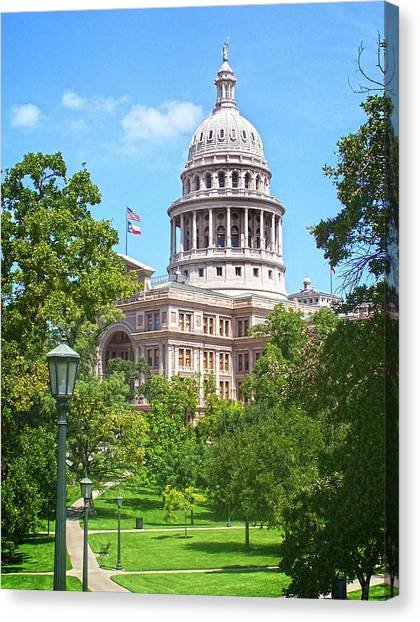 Steve Austin Canvas Print - Texas State Capitol - Austin by Steve Ellison