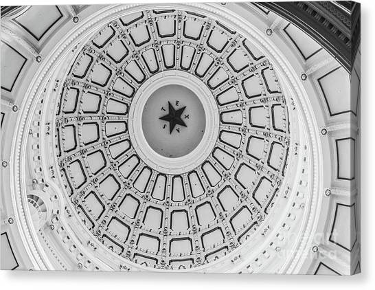 Austin Texas Canvas Print - Texas State Capitol Dome by Edward Fielding