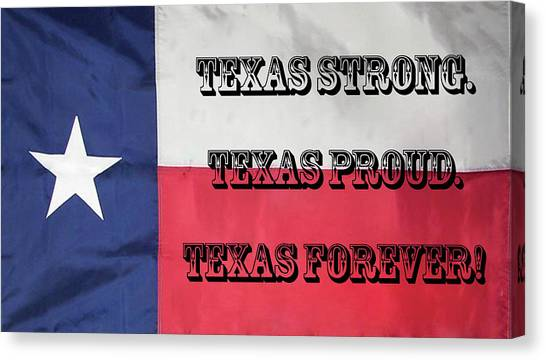 Texas Strong Canvas Print