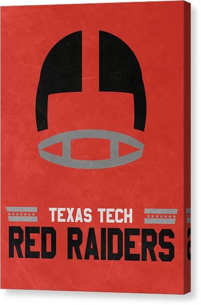 Texas State University Texas State Canvas Print - Texas Tech Red Raiders Vintage Football Art by Joe Hamilton