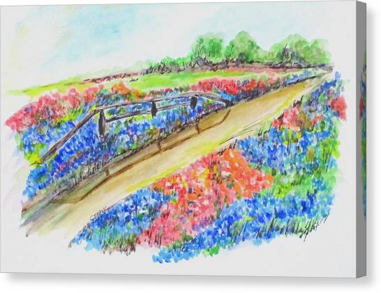 Texas Wild Flowers Canvas Print
