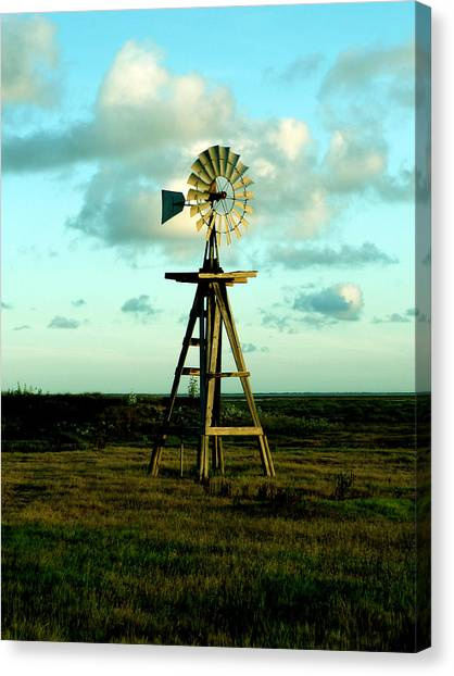 Canvas Print - Texas Windmill by Evelyn Patrick