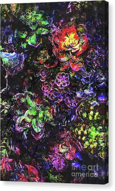 Textural Garden Plants Canvas Print