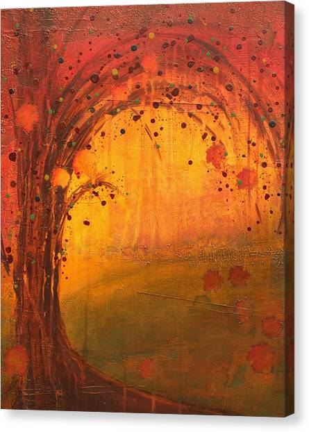 Textured Fall - Tree Series Canvas Print