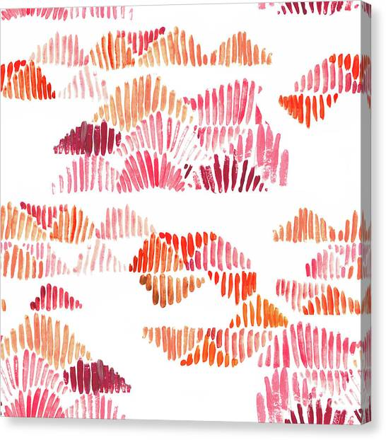 Repeat Canvas Print - Textured Lines by Marni Stuart