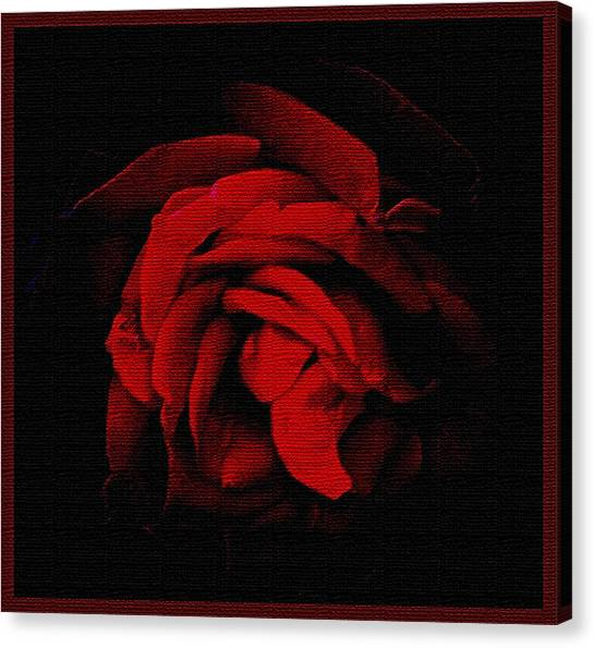 Textured Rose Canvas Print by Russ Mullen