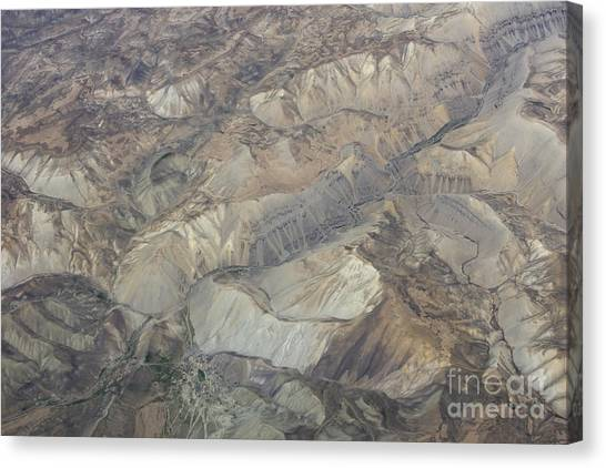 Textured Valleys Canvas Print by Tim Grams