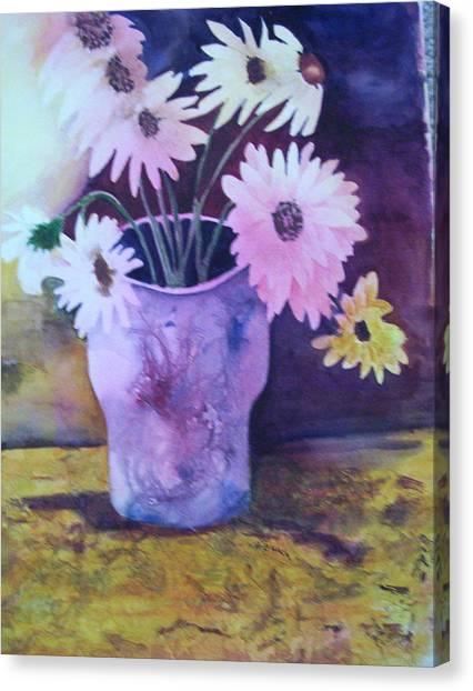 Textured Vase Canvas Print
